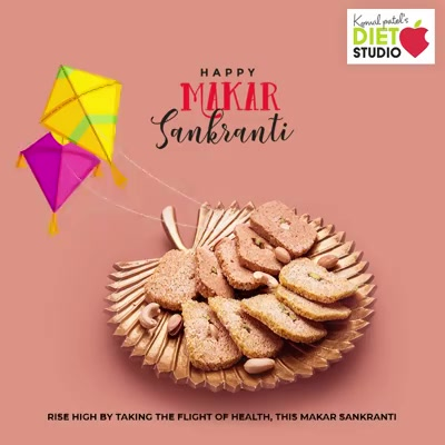 Rise high by taking the flight of health, this Uttarayan.   #MakarSankranti2020 #MakarSankranti #Kites #KitesFestival #Uttarayan #Uttarayan2020 #KiteFlying #CelebrationTime #komalpatel #diet #goodfood #eathealthy #goodhealth