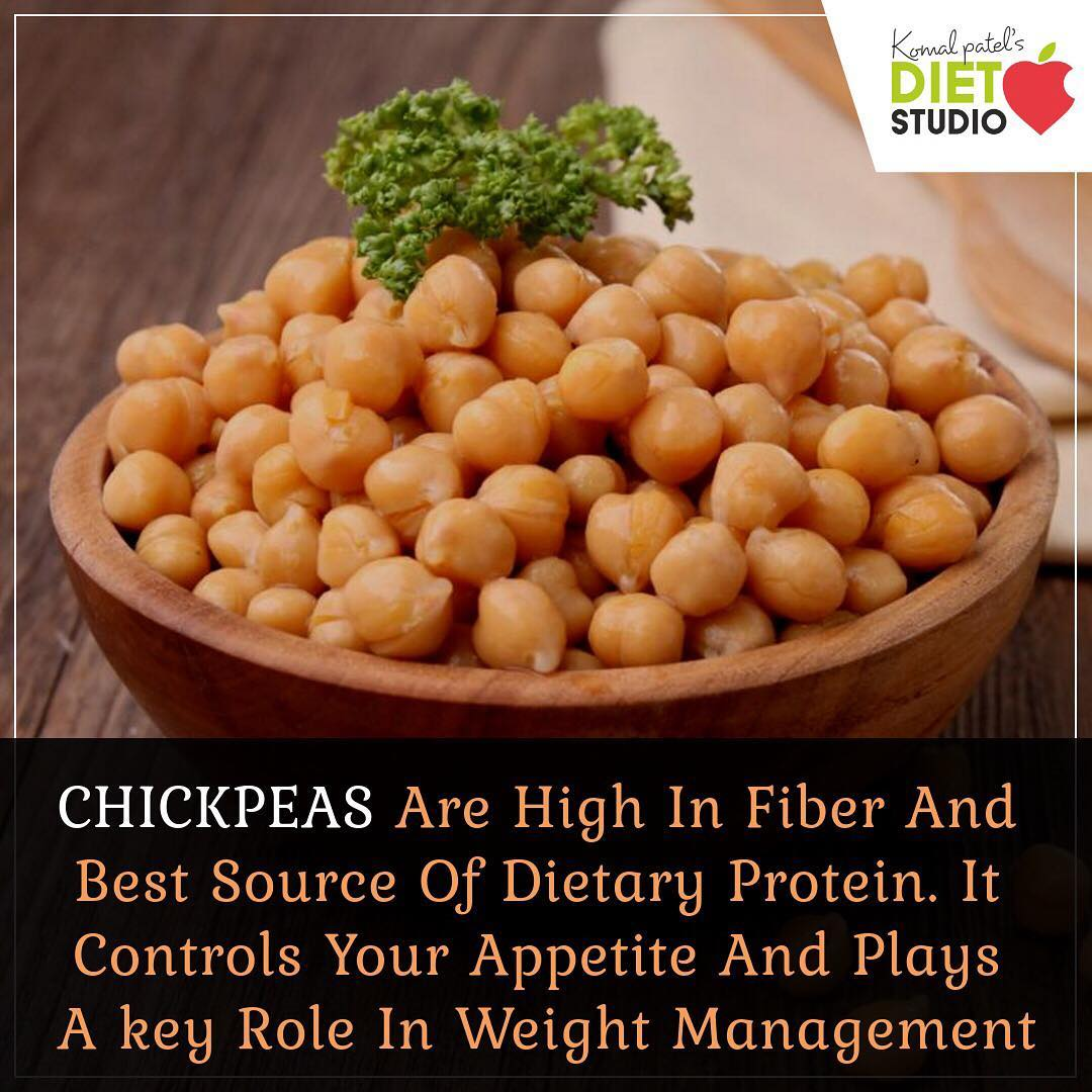 Chickpeas are a great source of protein and dietary fiber, which are two nutrients that help with weight control. Each cup of chickpeas offers 15 grams of protein, plus 13 grams of dietary fiber. Both protein and fiber boost satiety, so adding chickpeas to your meal helps ensure that you won't feel hungry soon after eating. #chickpeas #chole #pulses #protein #weightoss #benefits #fiber