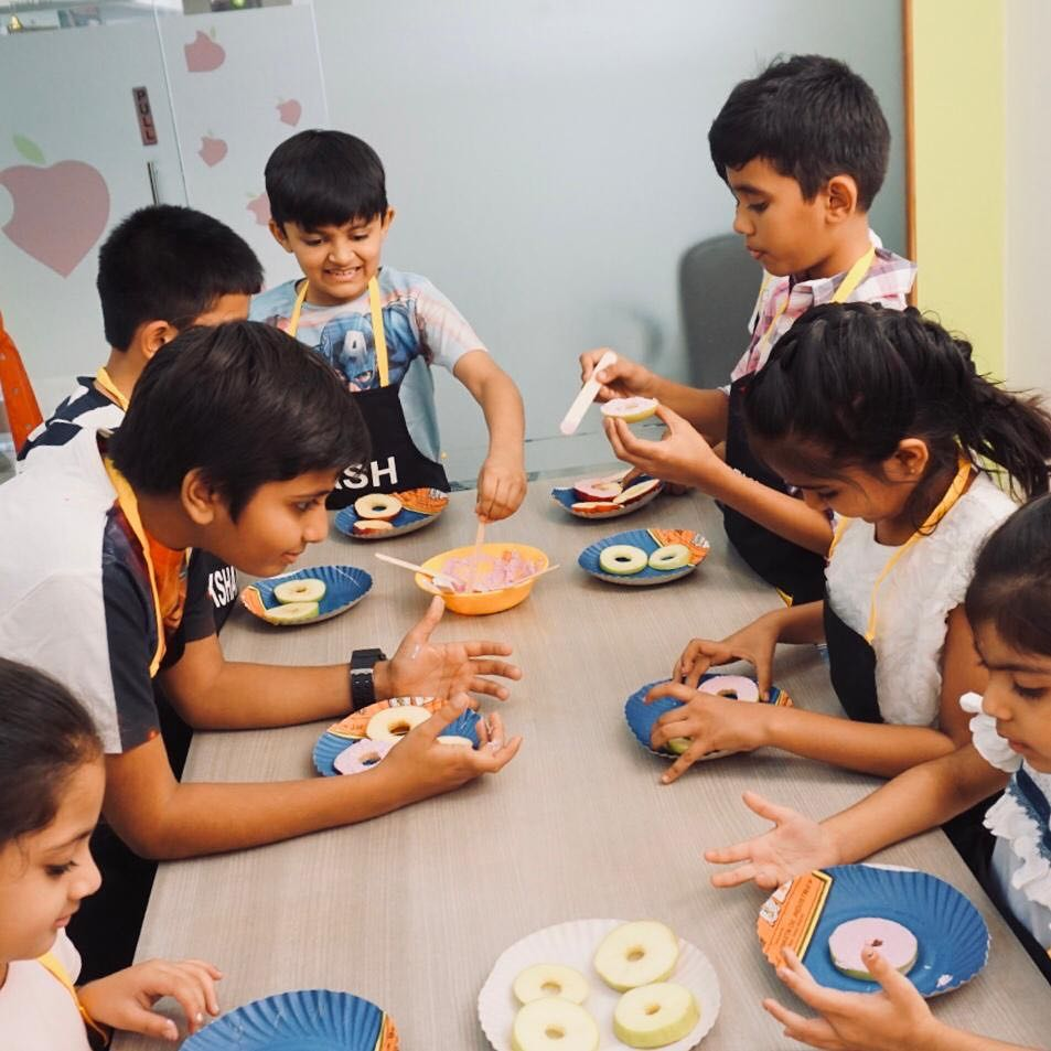 Glimpse of kids workshop  Learning about the vegetables and fruits and creating a healthy recipes out of it. #kidsworkshop #kidshealth #kidsnutrition