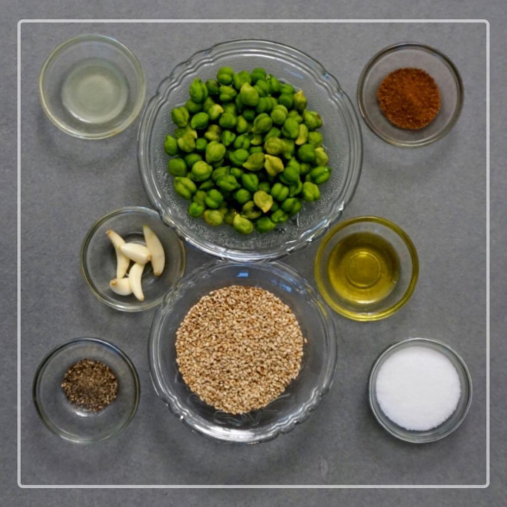 Komal Patel,  greenchana, sesameseed, oil, salt
