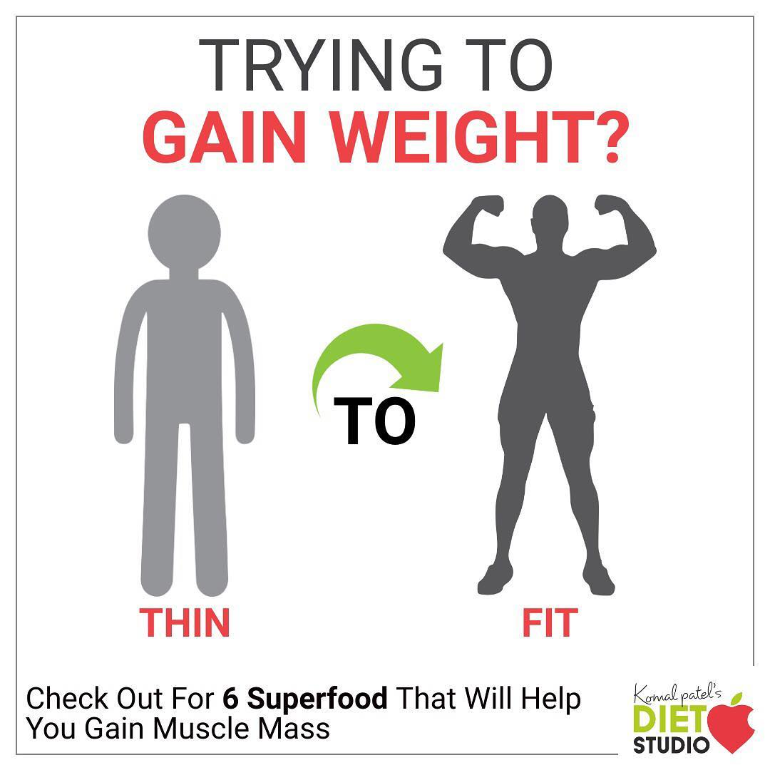 Trying to gain weight  Check out for this foods that will help you gain muscle mass  #gainweight #musclemass #weightgain #thintofit
