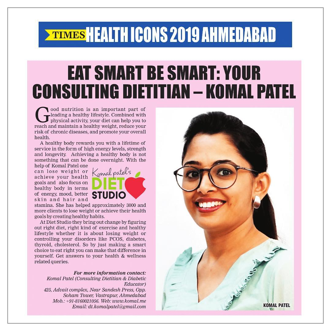 Again featured in times of India  Eat smart Be smart : your consulting Dietitan  #komalpatel #dietitian #consultingdietitan #nutrionist #healthicon #dietclinic #dietplan #diet #nutrition