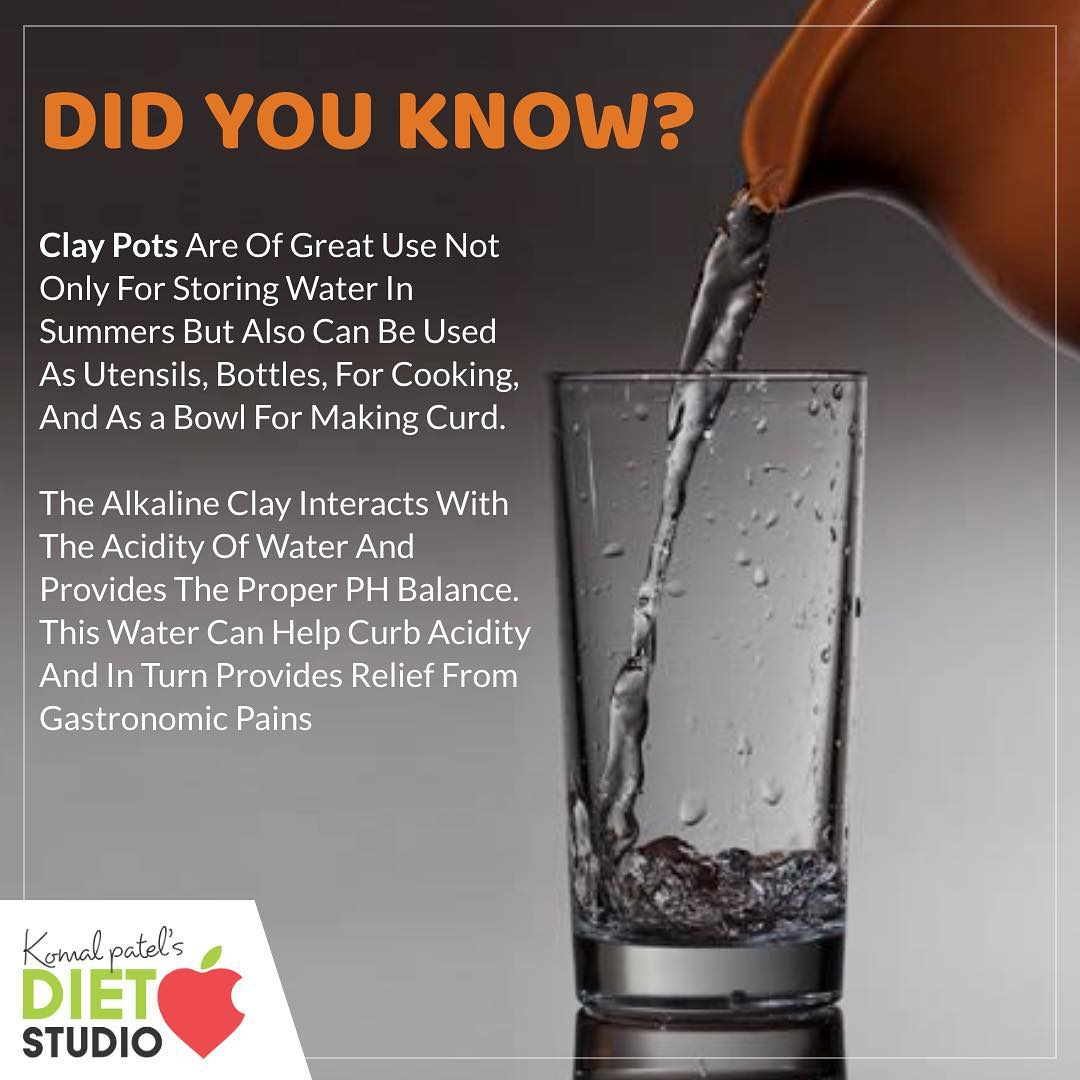 Summer tips When water is stored in the pot, the clay charges it with the healing powers of the earth. #matka #earthenpot #claypot #pot #summer #water #coldwater