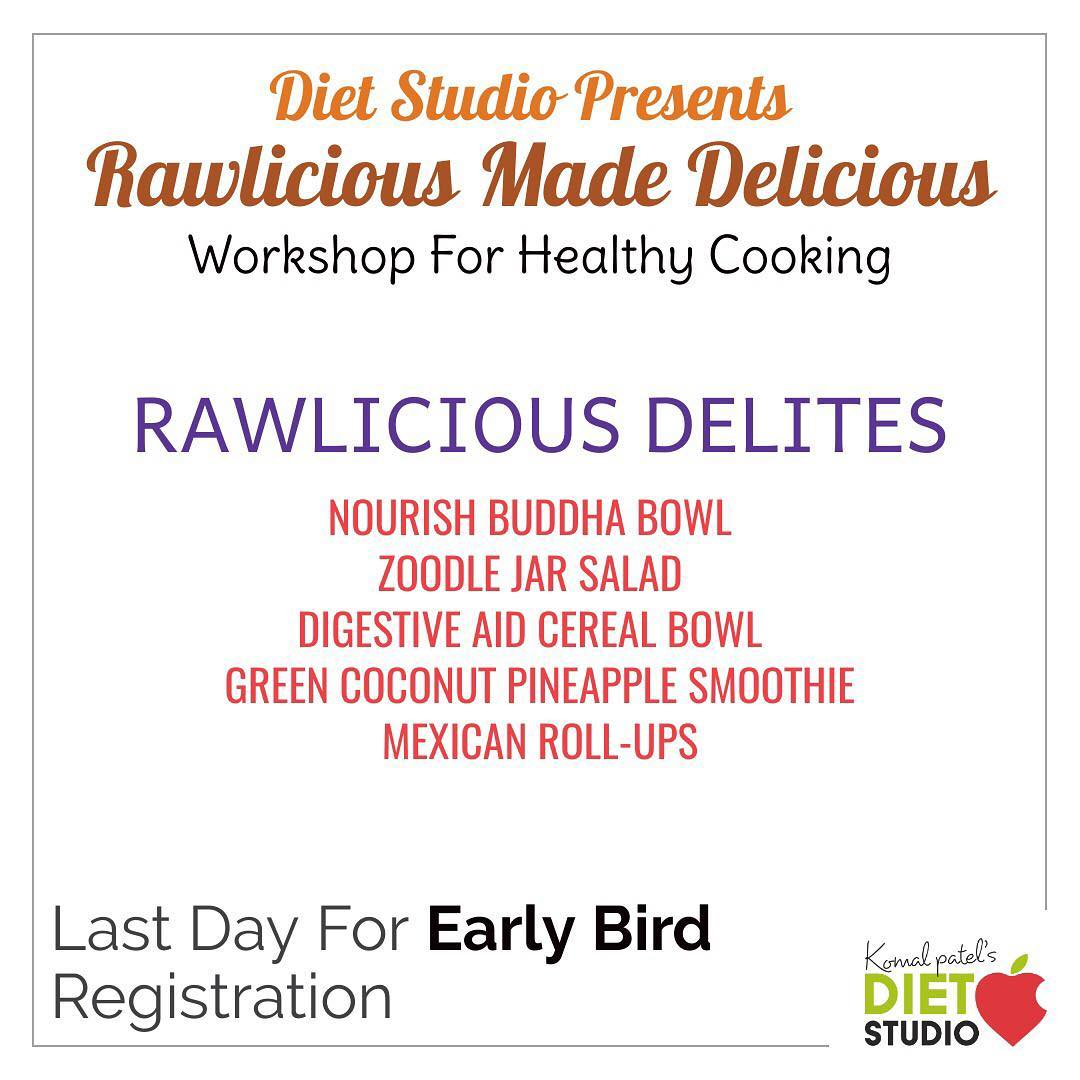 Rawlicious made delicious is a healthy cooking workshop.  This idea is aimed to learn healthy balanced diets to be consumed in your daily life. #diet #healthyeating #eatingclean #cleaneating #health #healthyfood #food #recipes #healthyrecipes #fit #fitness #lifestyle #healthylifestyle #lifestylechange #goodfood #goodvibes #dietitian #komalpatel #nutrition #nutrionist #ahmedabad #dietclinic #weightmanagment