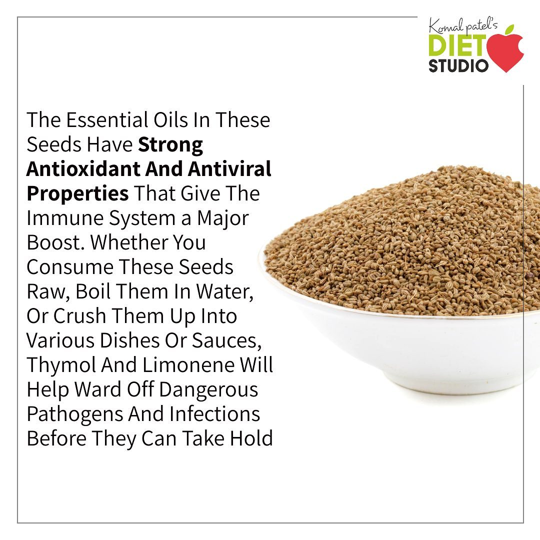 Due to antibacterial properties of ajwain, it is a very good immunity booster and helps in speedy recovery. #ajwain #antioxidant #antiviral #booster #immunity
