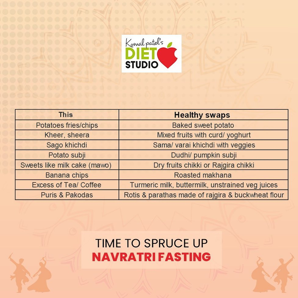 Navratri is all about fasting and detoxing the body by eating healthy and getting ready for the next seasonal change. This Navratri try out these health swaps to spruce up this Navratri  #navratri #healthyswap #healthyeating #navratrifast #detox #healthynavratri #navratri2019 #navratrifood