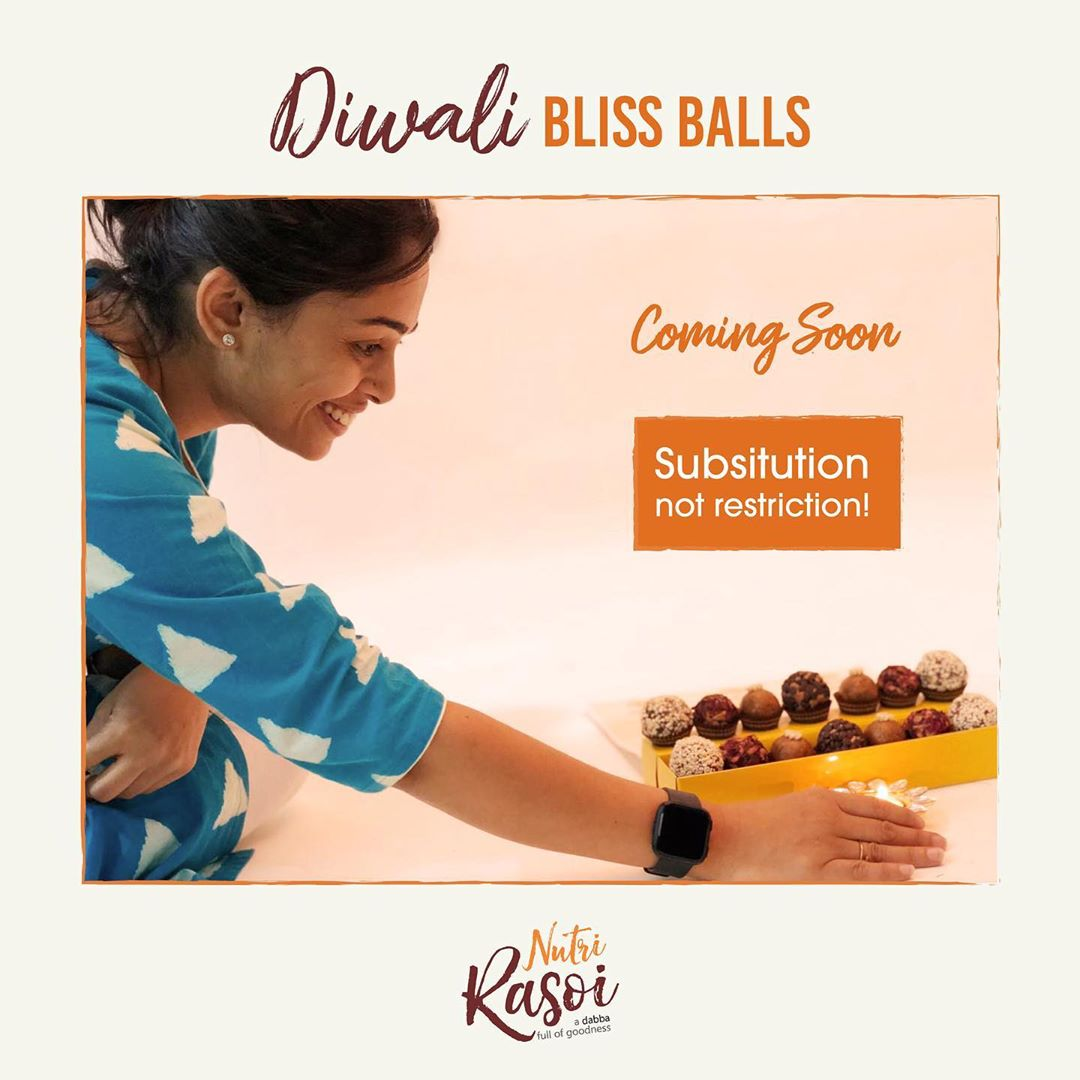 Health should be a lifestyle and not a trend  This Diwali the new tradition is substitution not restriction  Coming soon with Diwali bliss balls  @nutrirasoi_bydietitiankomal  #diwali #diwalisweets #photoshoot #sustitution #diwaligift #komalpatel #healthysweet #energyballs #guiltfree