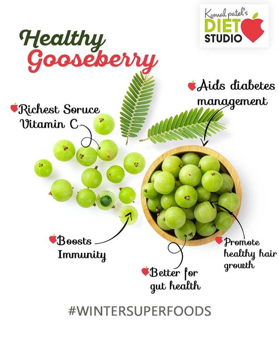 Indian Gooseberry (Amla), due to its powerful antioxidant properties, it has been used in Ayurveda for thousands of years to boost immunity and improve health. Traditionally, it has been used to treat cold and cough, improve digestion, enhance fertility, and improve hair growth.  #komalpatel #diet #goodfood #eathealthy #goodhealth #wintersuperfoods