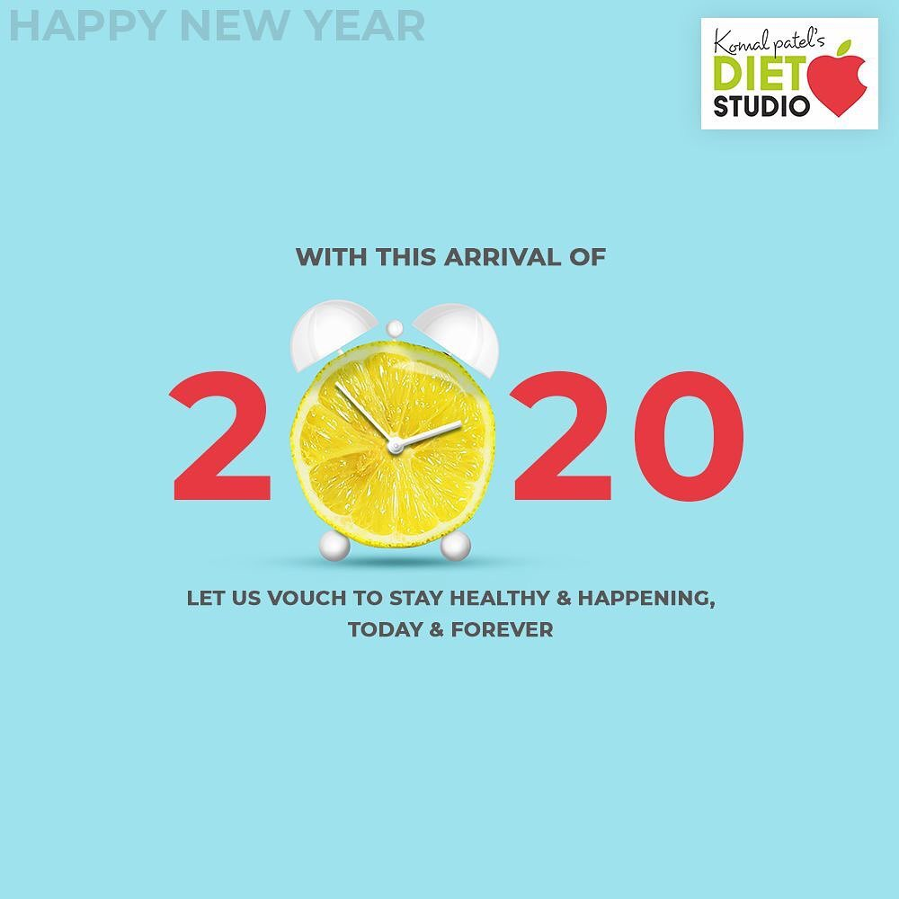 Let us vouch to stay healthy & happening, today & forever.  #NewYear2020 #HappyNewYear #NewYear #Happiness #Joy #2k20 #Celebration #komalpatel #diet #goodfood #eathealthy #goodhealth