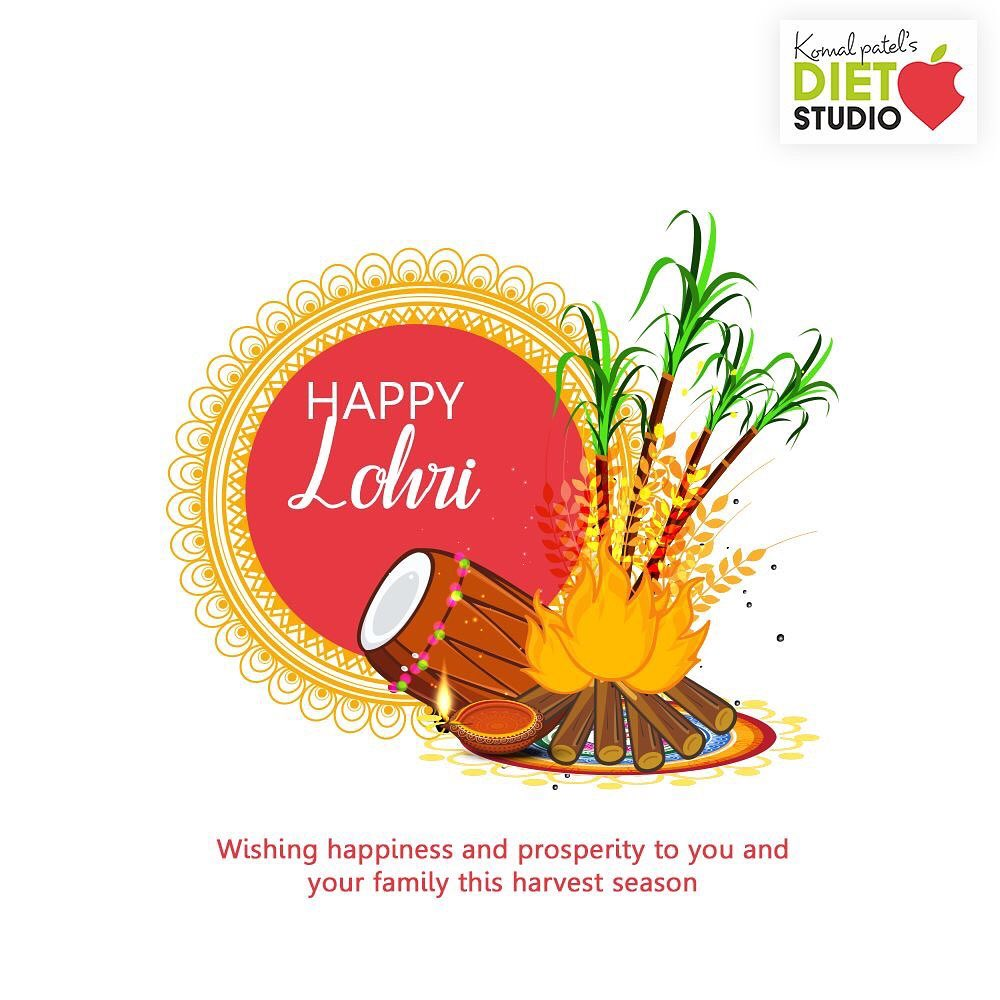 Wishing happiness and prosperity to you and your family this harvest season.  #HappyLohri #Lohri #Lohri2020 #LohriCelebration #HarvestFestival #komalpatel #diet #goodfood #eathealthy #goodhealth