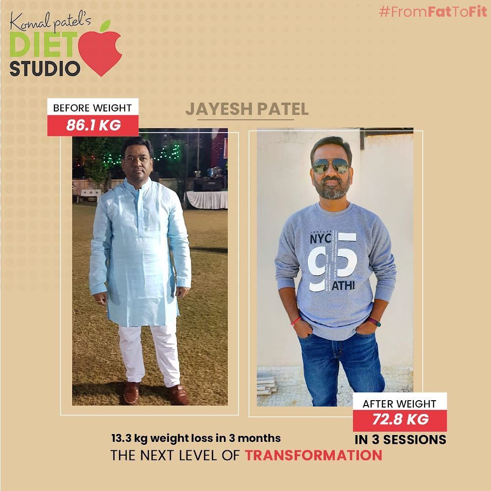 Transformation requires the next level of dedication & health commitment. We truly congratulate Jayesh patel for successfully climbing the ladder of fitness!  #komalpatel #diet #goodfood #eathealthy #goodhealth