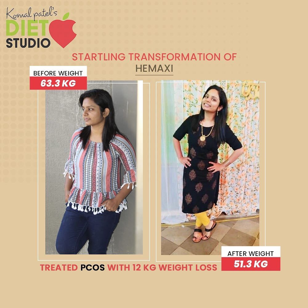 Real transformation requires real honesty.  Struggling with regular periods and pre menstrual symptom was concern hemaxi always had  Following a healthy lifestyle change which include  Eating healthy  Sleeping on time  Regular exercise  Mental peace  All worked together to combat her PCOS  We truly praise Hemaxi for accomplishing the goal of fitness!  #komalpatel #diet #goodfood #eathealthy #goodhealth #pcosweightloss #pcos #pcosdiet