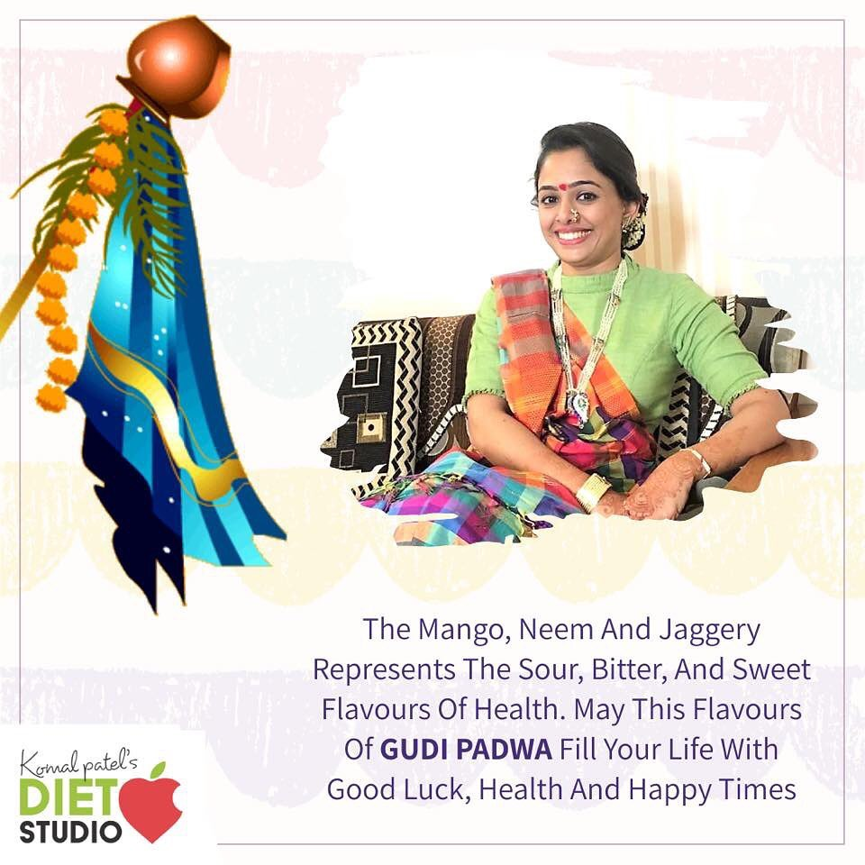 Cherish the blessings and celebrate the auspiciousness of the divine energy in the name of Gudi Padwa. #gudipadwa #festival #indianfestival #fest #komalpatel #dietitian