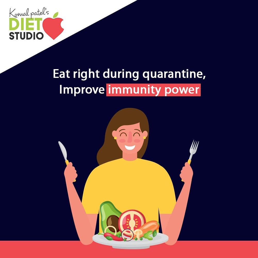 The best way to keep the deadly virus away is by maintaining proper hygiene, self-isolation. A stronger immunity system is more likely to protect from invading pathogens like a virus.  #komalpatel #onlineconsultation #dietitian #ahmedabad #dietclinic #dietplan #weightloss #pcos #diabetes #immunitydietplan