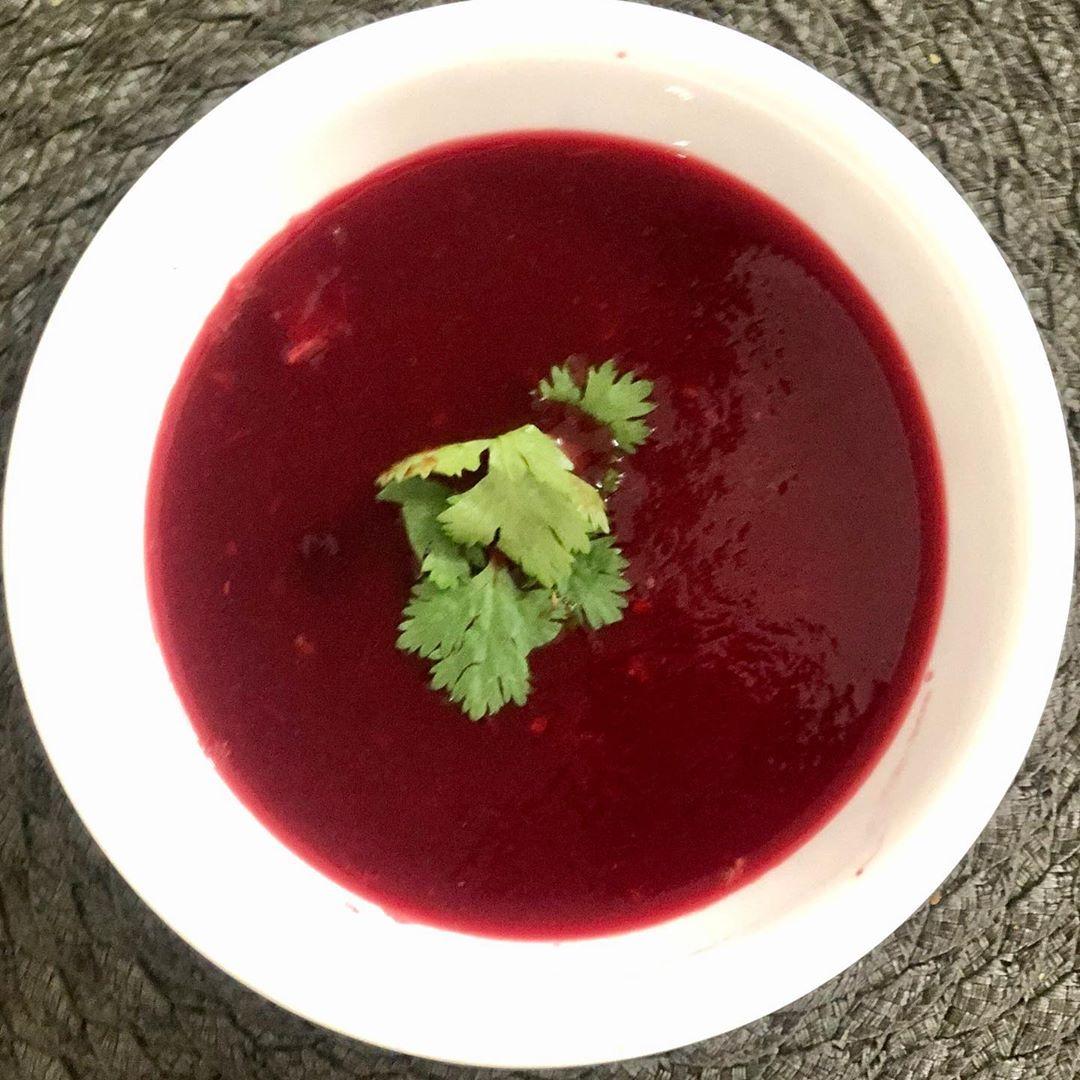 Komal Patel,  beetroot, tomato, soup, immunity, immunitybooster, quarantinemeal, lockdown, healthyfood, ahmedabad