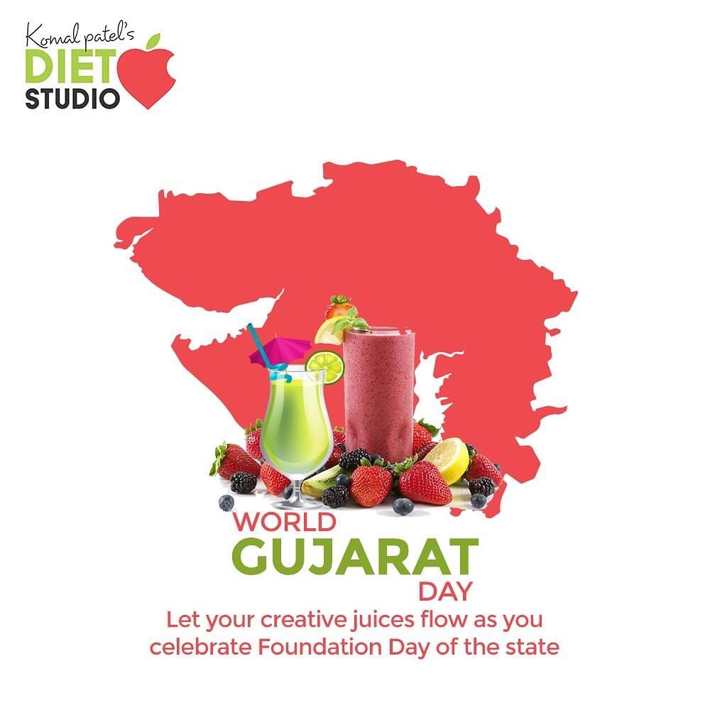 Let your creative juices flow as you celebrate Foundation Day of the state.  #HappyGujaratDay #GujaratDay #GujaratFoundationDay #GujaratDay2020  #komalpatel #onlineconsultation #dietitian #ahmedabad #dietclinic #dietplan #weightloss #pcos #diabetes #immunitydietplan