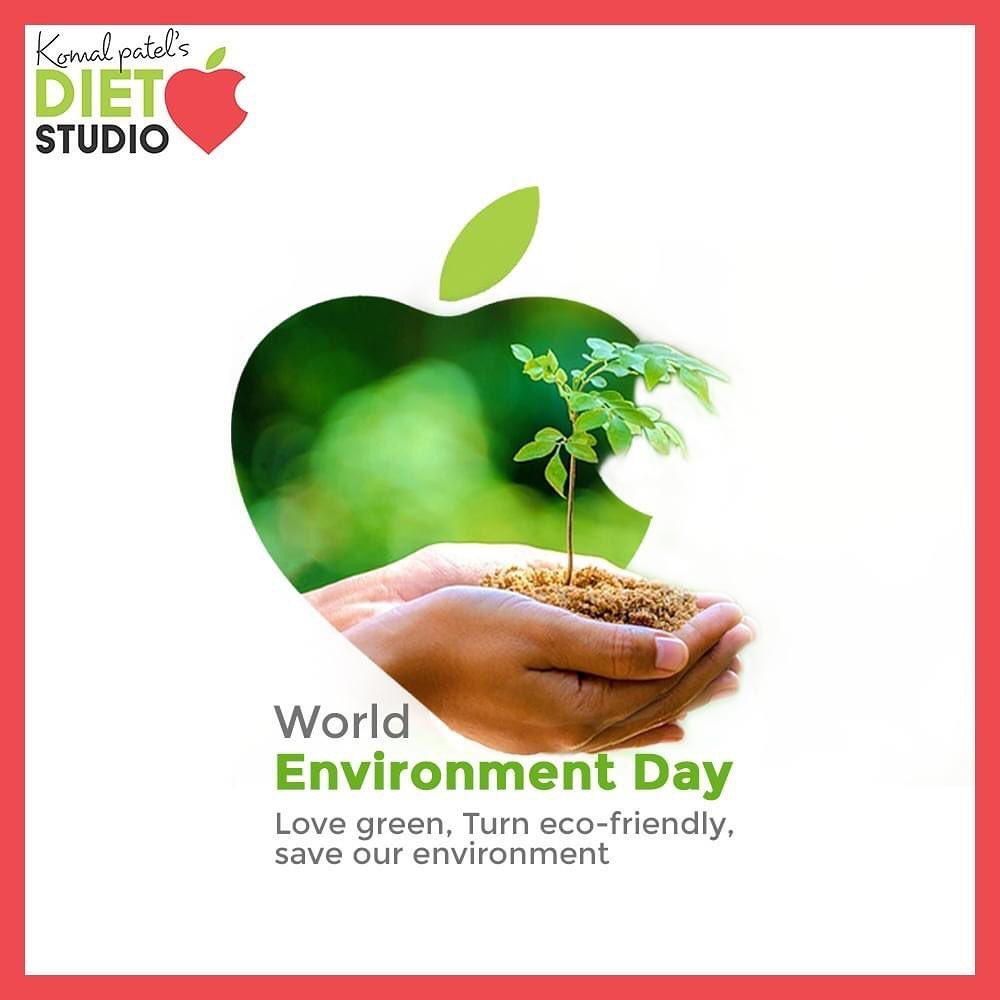 Love green, Turn eco-friendly, save your environment.  #WorldEnvironmentDay #EnvironmentDay2020 #SaveEnvironment #komalpatel #onlineconsultation #dietitian #ahmedabad #dietclinic #dietplan #weightloss #pcos #diabetes #immunitydietplan
