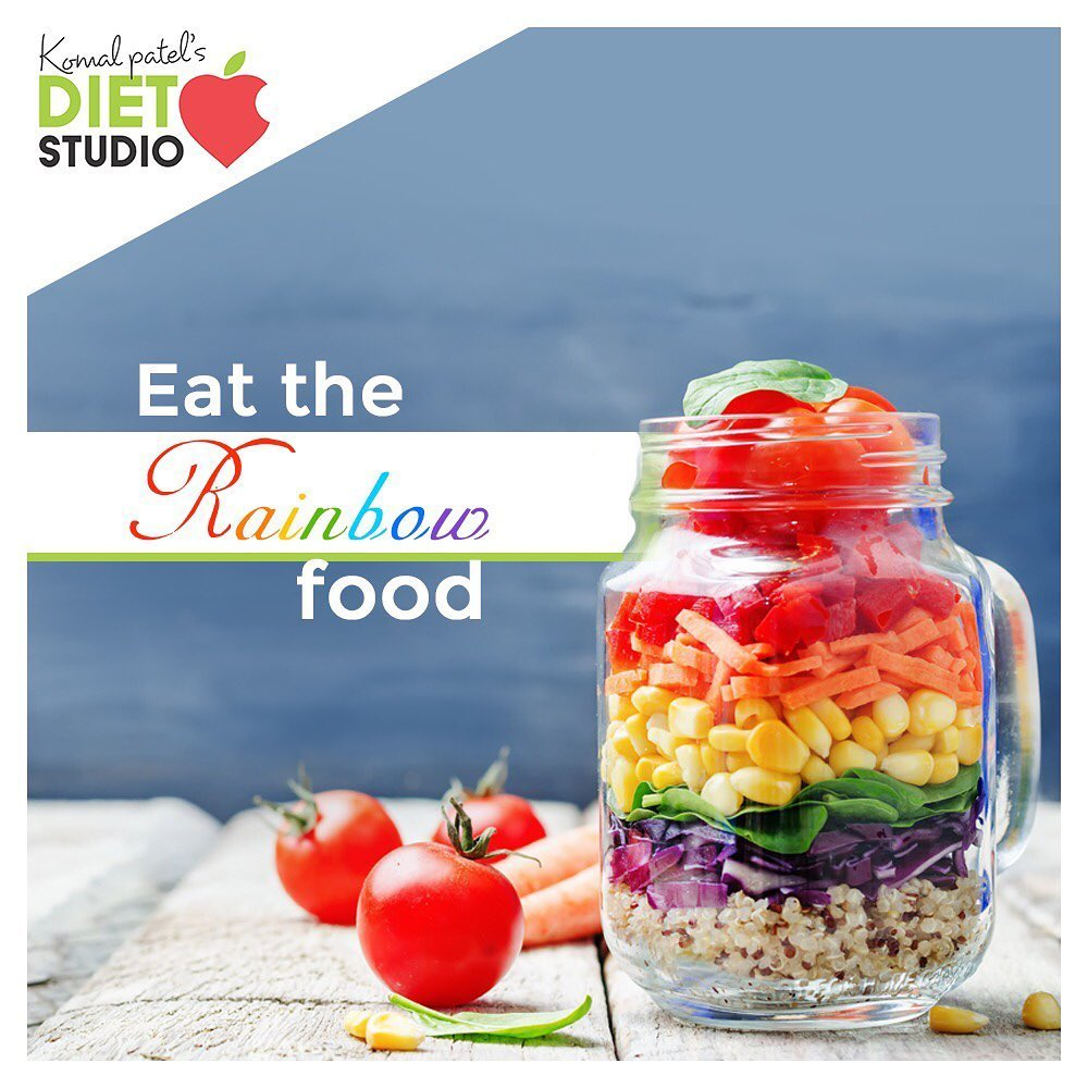 Eating the Rainbow  Challenge Yourself to Try Fruits and Vegetables of Different Colors  Fresh, filling and heart-healthy, fruits and vegetables are an important part of your overall healthy eating plan. #eatingrainbow #colourfulplate #balancedmeal #vegetableandfruitdiet