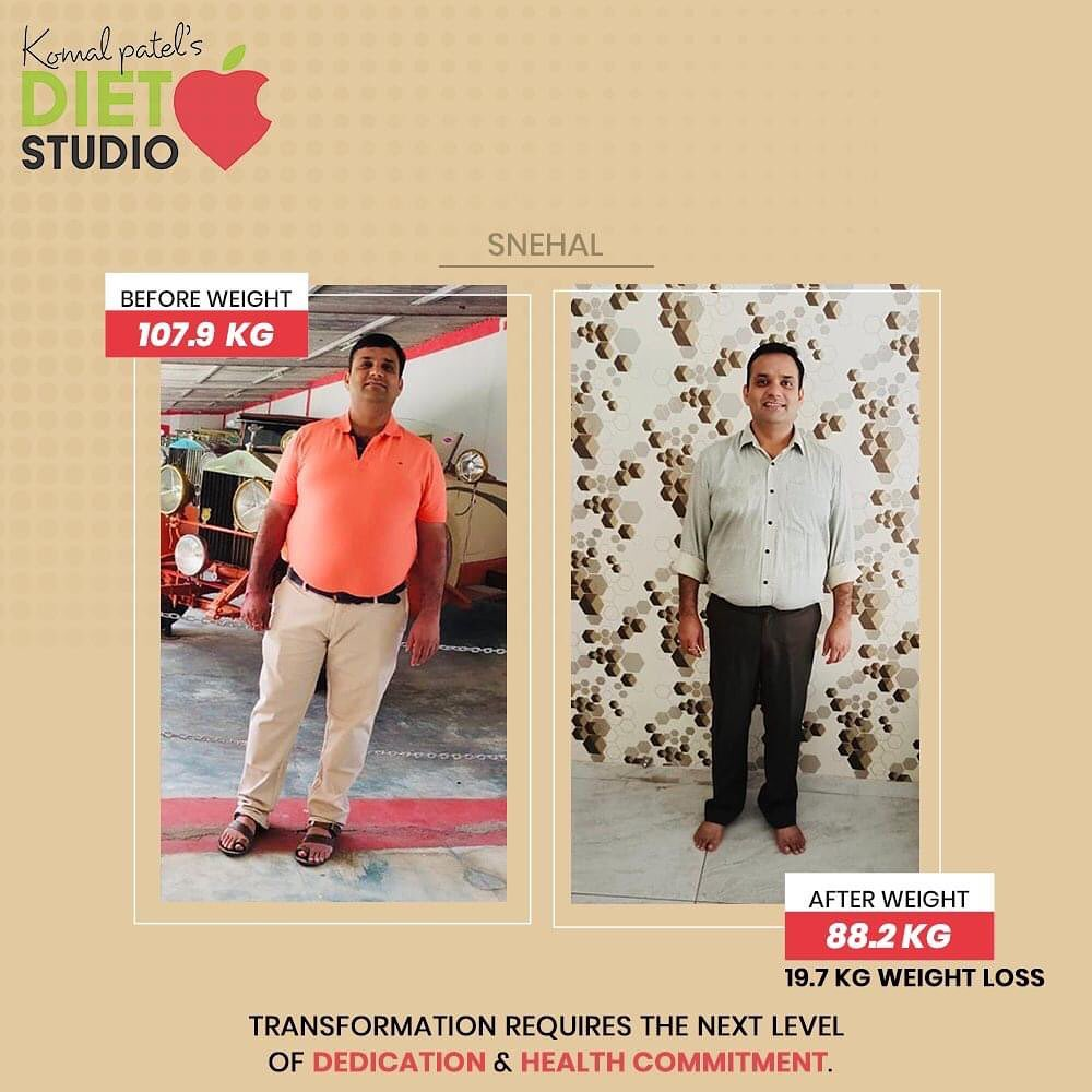 Real transformation requires real honesty. We truly praise Snehal for accomplishing the goal of fitness!  #komalpatel #diet #goodfood #eathealthy #goodhealth