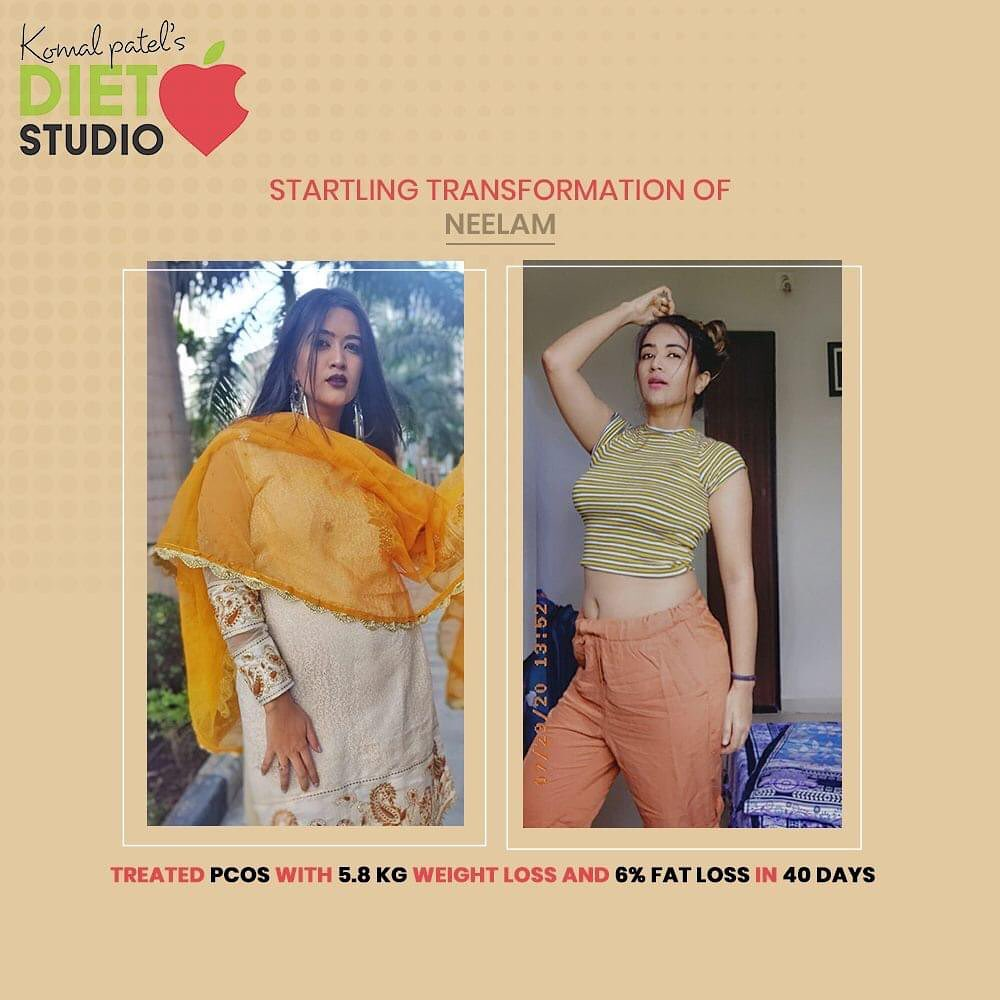 This is the result!  Neelam has successfully climbed the ladder of transformation.  This is what she has to say   It's really nice how she give personalized care for everyone and they understand your physical and mental health and plan diet accordingly. I am really happy with my nutritionist Komal patel where she customises according to my likings. I'm very happy with my pcos weight lose journey..keep up the good work and I would highly recommend to all my friends.  If you too wish to meet the transformed & healthiest version of you, then connect us now!  #komalpatel #diet #goodfood #eathealthy #goodhealth