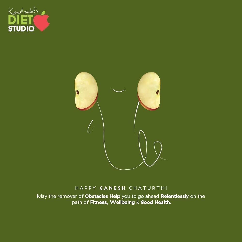 May the remover of obstacles help you to go ahead relentlessly on the path of fitness, wellbeing & good health!  #HappyGaneshChaturthi #GaneshChaturthi2020 #GanpatiBappaMorya #Ganesha #GaneshChaturthi #IndianFestival #komalpatel #diet #goodfood #eathealthy #goodhealth