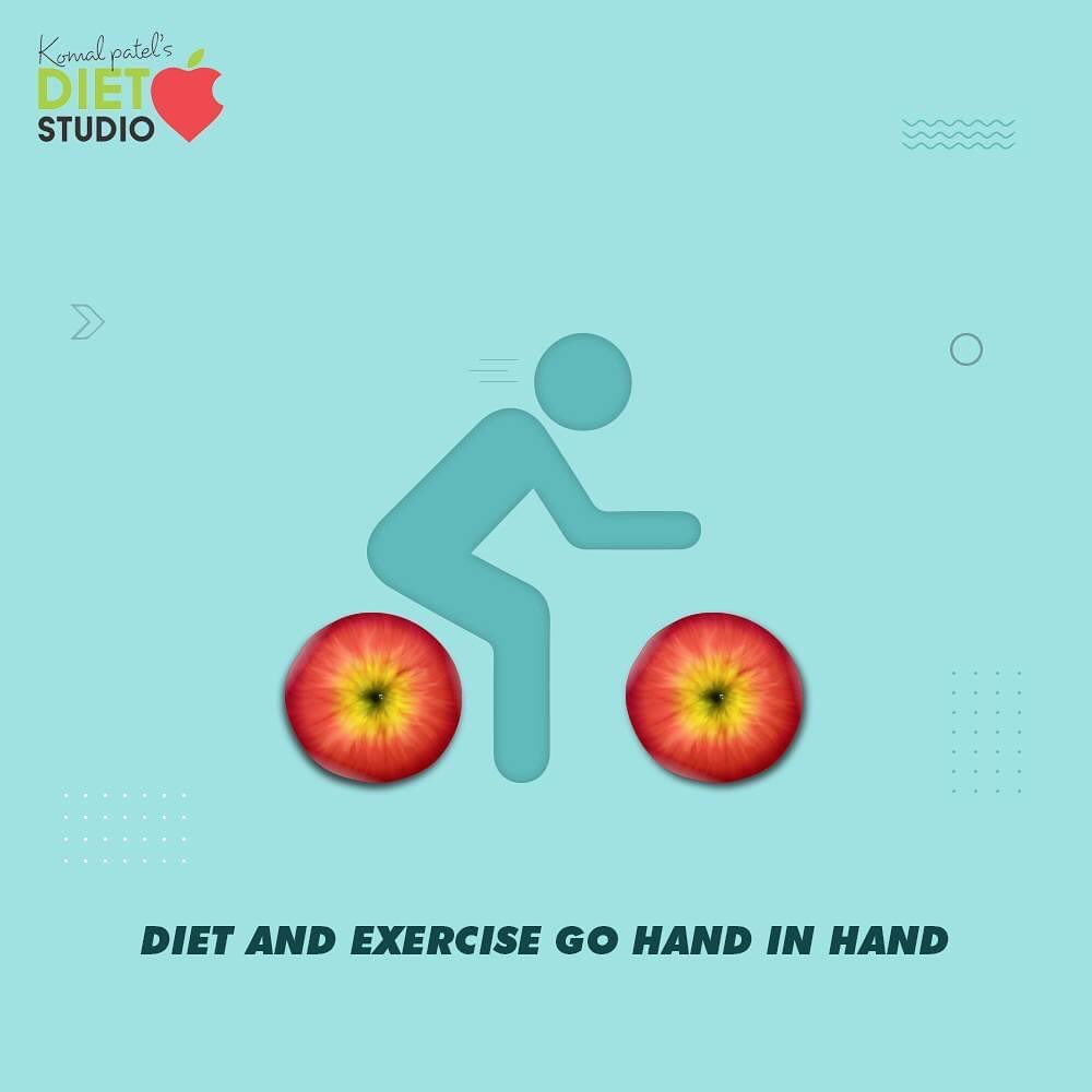 Diet and exercise are two sides of one coin. You cannot adopt one healthy habit and neglect others, for a healthy lifestyle you have to adopt both.   #komalpatel #diet #goodfood #eathealthy #goodhealth