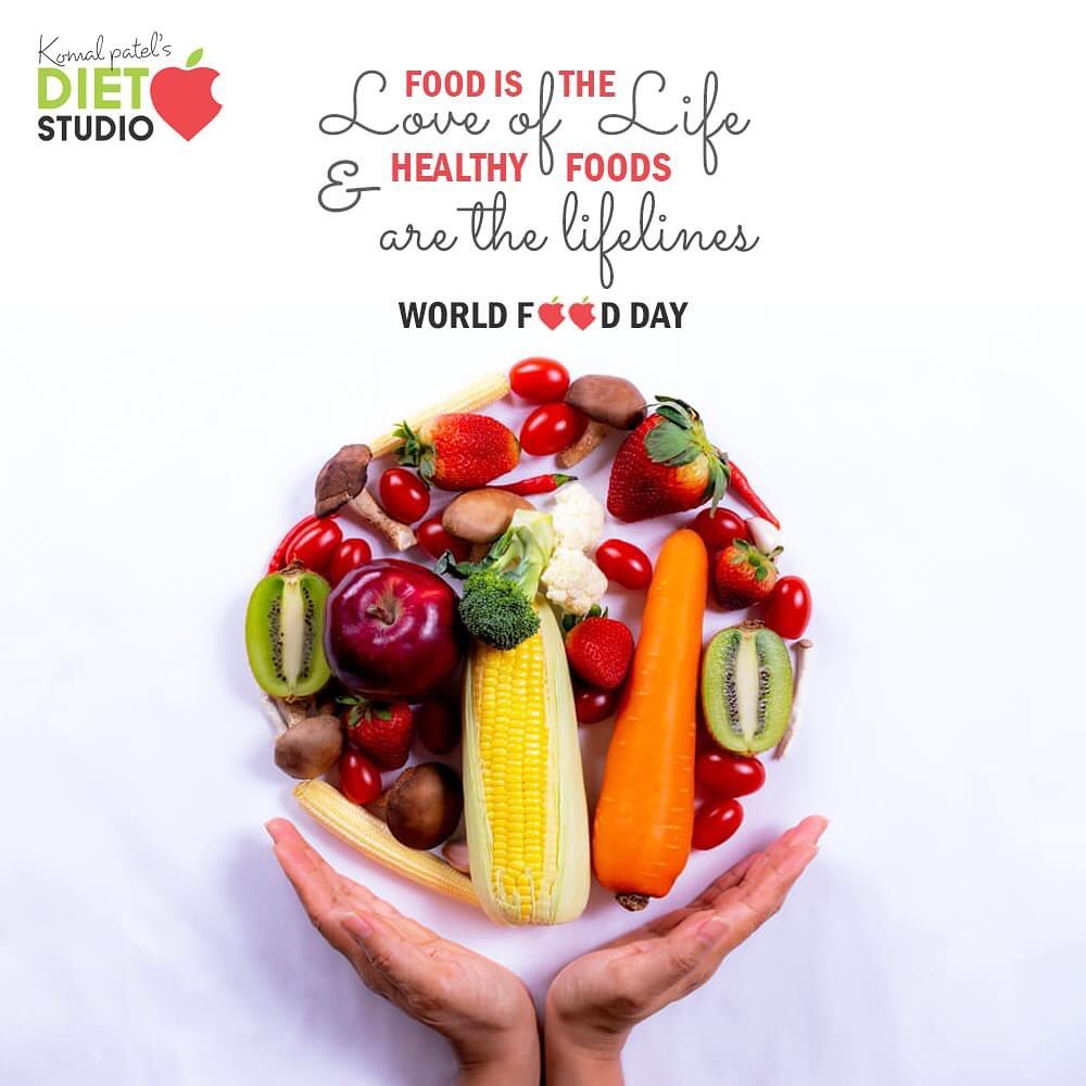 Food is the love of life & healthy foods are the lifelines  Grow, nourish, sustain ....  #WorldFoodDay #WorldFoodDay2020 #FoodDay  #KomalpPatel #Diet #GoodFood #EatHealthy #GoodHealth #DietPlan #DietConsultation #dietitian