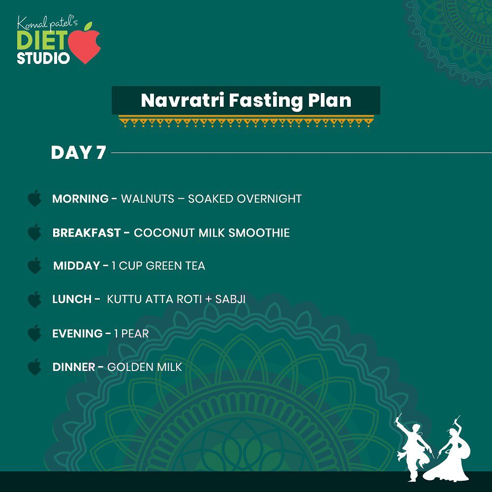 Fasting Navratri food plan.  interesting balanced and healthy diet plan for all those health conscious people out there. #healthydietplan #navratri #dietplan #fasting #diet #dietitian #komalpatel  #dietitiansofinstagram #dietitian#fastingplan #navratridiet