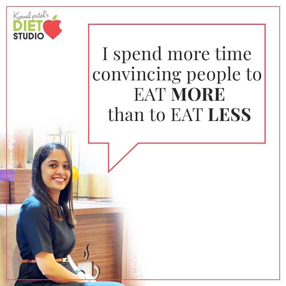 There are so many clients or people who come with the mentality that we need to eat less to lose weight.  So eating more or rather enough is what body demands  According to our health goals, right food, nutritious and whole food is needed to achieve healthy body   #FoodGuide #HealthyFoodGuide #KomalpPatel #Diet #GoodFood #EatHealthy #GoodHealth #DietPlan #DietConsultation