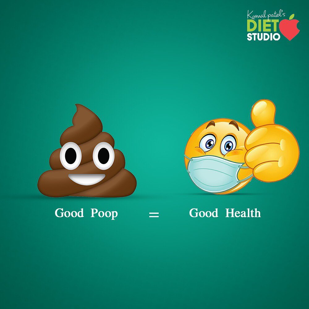 GOOD POOP = GOOD HEALTH It's the number one clinical indicator of overall gut health. one of the common cause of stomach ache The colour smell and size of your bowel movements reveal a lot about your diet and how healthy you are, this helpful guide gives you better idea of what your poop may be trying to tell you.  1. Poop is hard and in small pallets. That's a sign of constipation .  Gut dysfunction has started and You are dehydrated and don't have enough fiber in your system.    2. Poop is black This colour of poop indicates some sort of internal bleeding in your GI tract and also could be side effect of iron supplements   3. Poop is very loose and mushy but not watery.  This usually is  a sign of inflammation or diarrhoea. Include fiber and probiotics like curd, kefir , kombucha.    4. Poop is small soft with clear edges  This type could be smelly and shows imbalanced gut bacteria or GI disorder.   5. Poop floats and is watery and entirely liquid  It is sign of food poisoning or bacterial imbalance or food allergy or intolerance  Treatment is required not only to stop diarrhoea but to understand the root cause and cure it.   6. Poop is smooth soft and like sausage.  This is reflection of excellent gut health.  Process are going well in your digeative system.   For good gut health and good poop   • Have enough of water • Regular exercise • good diet and foods with probiotics  • Quality sleep   #guthealth #goodpoop #goodhealth #guthealthmatters #digestion #komalpatel #guthealing