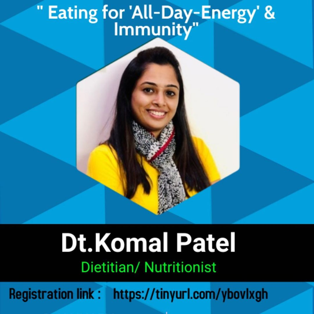Food is not just calories  It's information.....  New year with a talk on eating healthy for overall health specially for women's and teenage girls   #webinar #health #healthylifestyle #healthyeating #komalpatel
