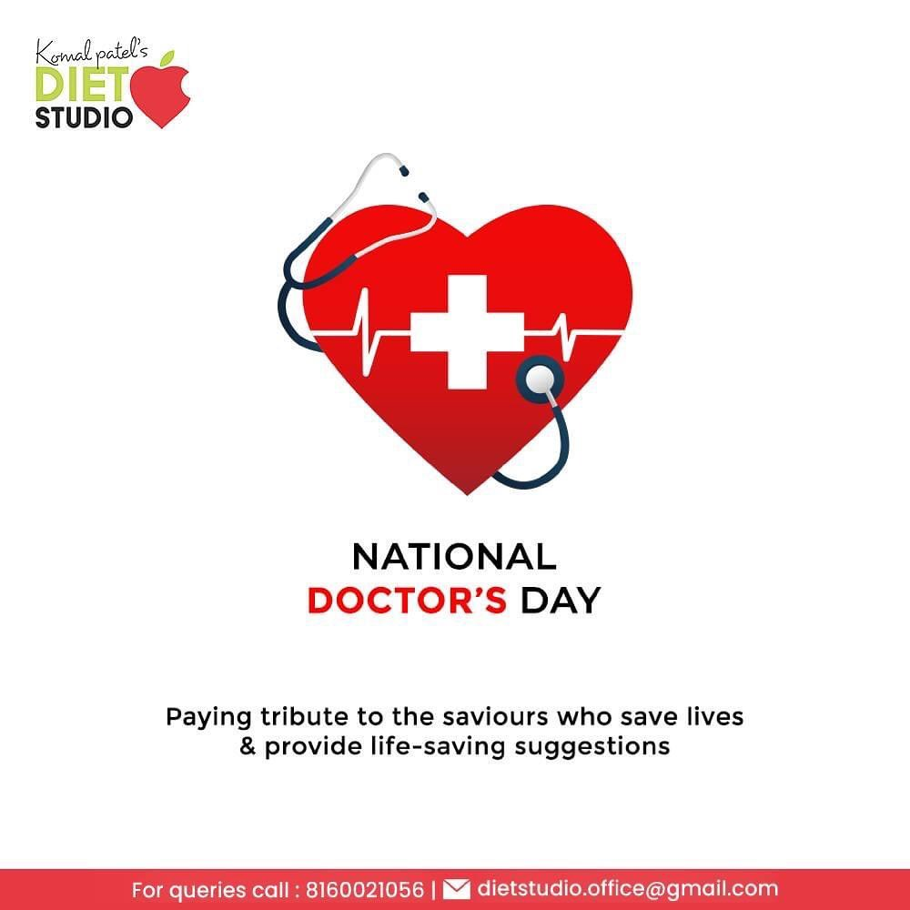 Paying tribute to the saviours who save lives and provide life-saving suggestions  #HappyDoctorsDay #DoctorsDay #Doctors #DoctorsDay2021 #EatGood #HealthyEating #FlavoursOfGoodness #KomalPatel #GoodFood #EatHealthy #GoodHealth #DietPlan #DietConsultation