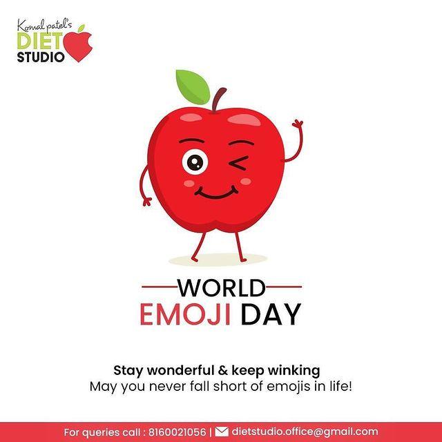Stay wonderful & keep winking  May you never fall short of emojis in life!  #WorldEmojiDay #EmojiDay #WorldEmojiDay2021 #KomalPatel #GoodHealth #DietPlan #DietConsultation