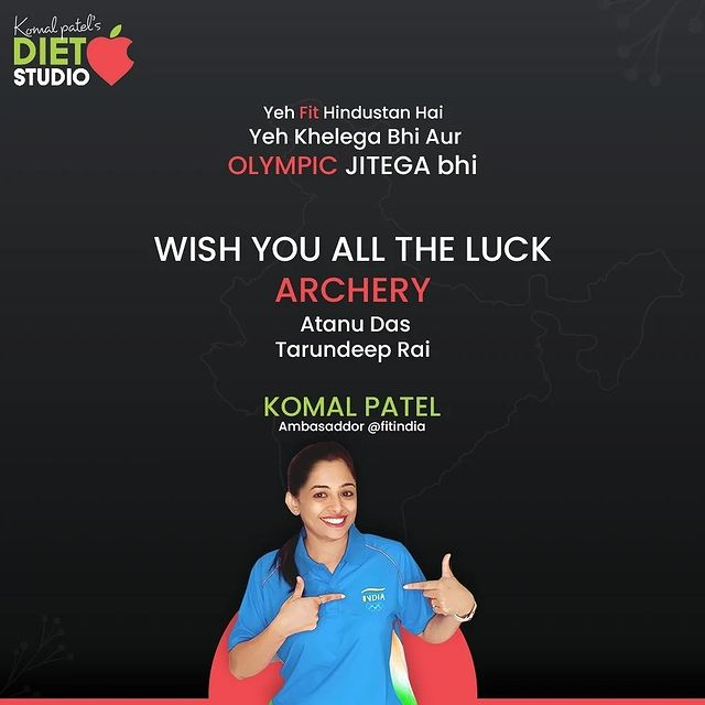 How is the Josh?  Keep your enthusiasm all enlivened and let your spirit soar all high for the Olympic is just about to begin.  Komal from India, the ambassador of @fitindia sends the good wishes with love to the jewels of India.  May you keep bejewelling the name of our nation!  #cheer4india #tokyoolympics #indiansports #indiletssupportindia #indianolympians #fitindia #fitindiaambassador #fitindiamovement #fitindia